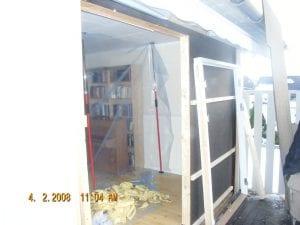 innsetting av ny dørkarm