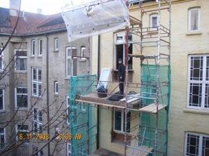 utskifting av vinduer i gammel murbygning