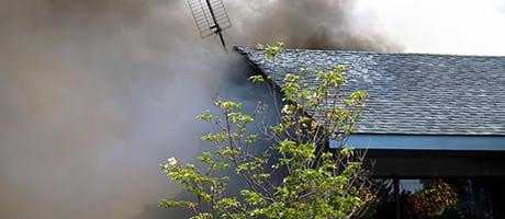 hus i brann